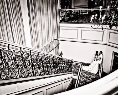 Staircase wedding images