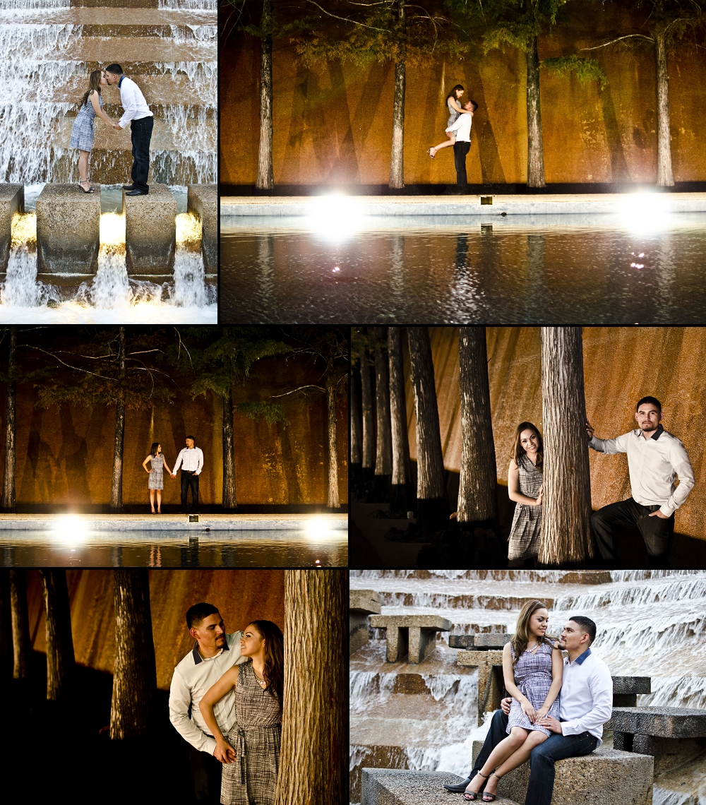 Fort Worth Water Gardens Engagement Photography