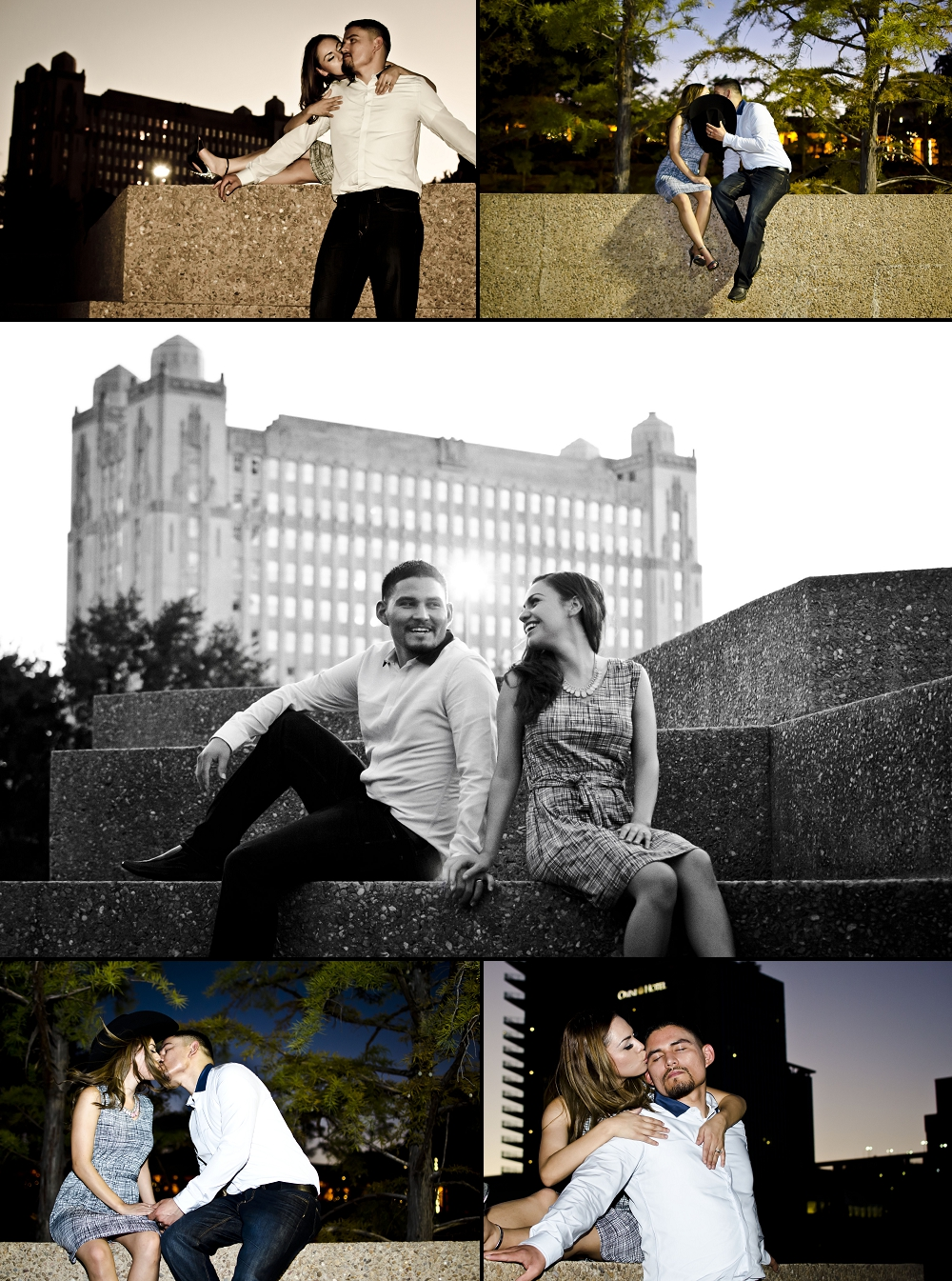 Fort Worth Water Gardens Engagement Pictures